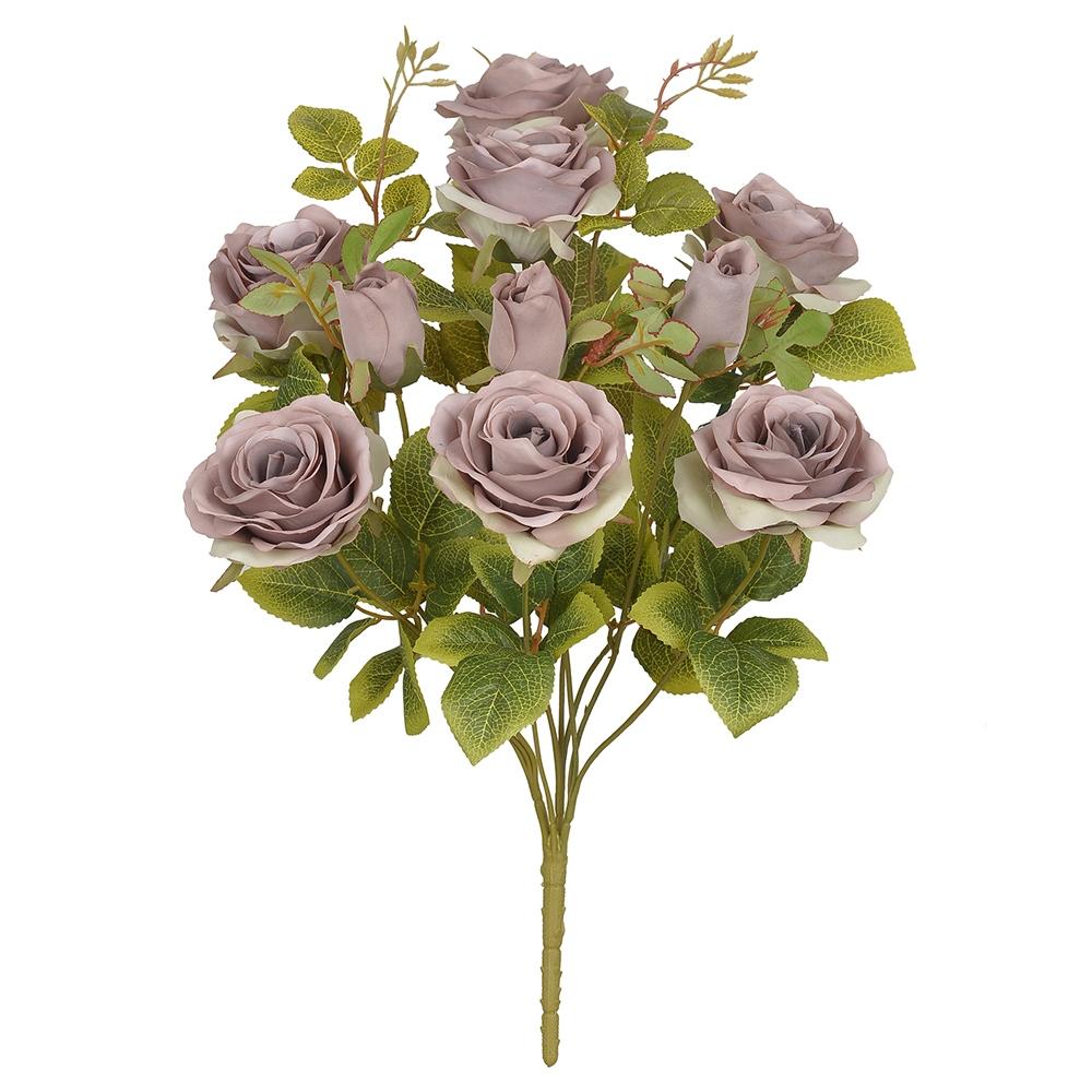 Buque de Rosas Roxa Permanentes 48cm