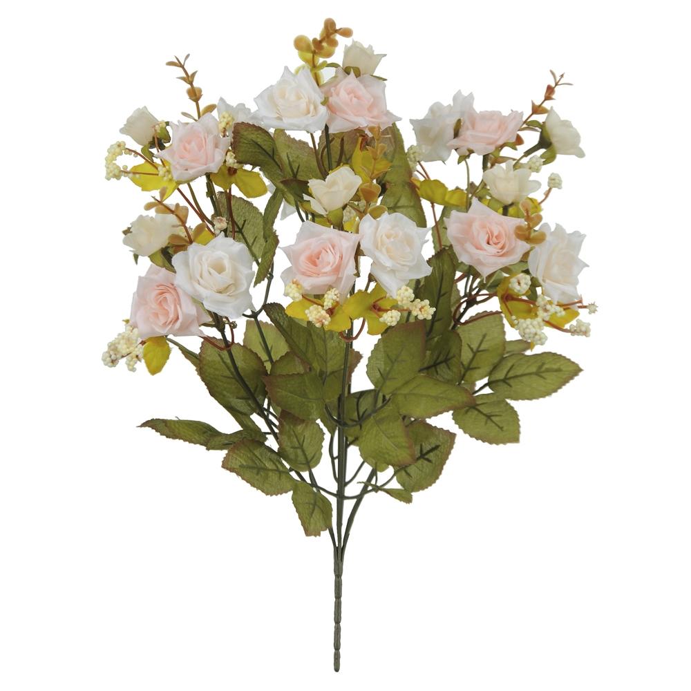 Buque de Rosas Salmão Permanentes 39cm