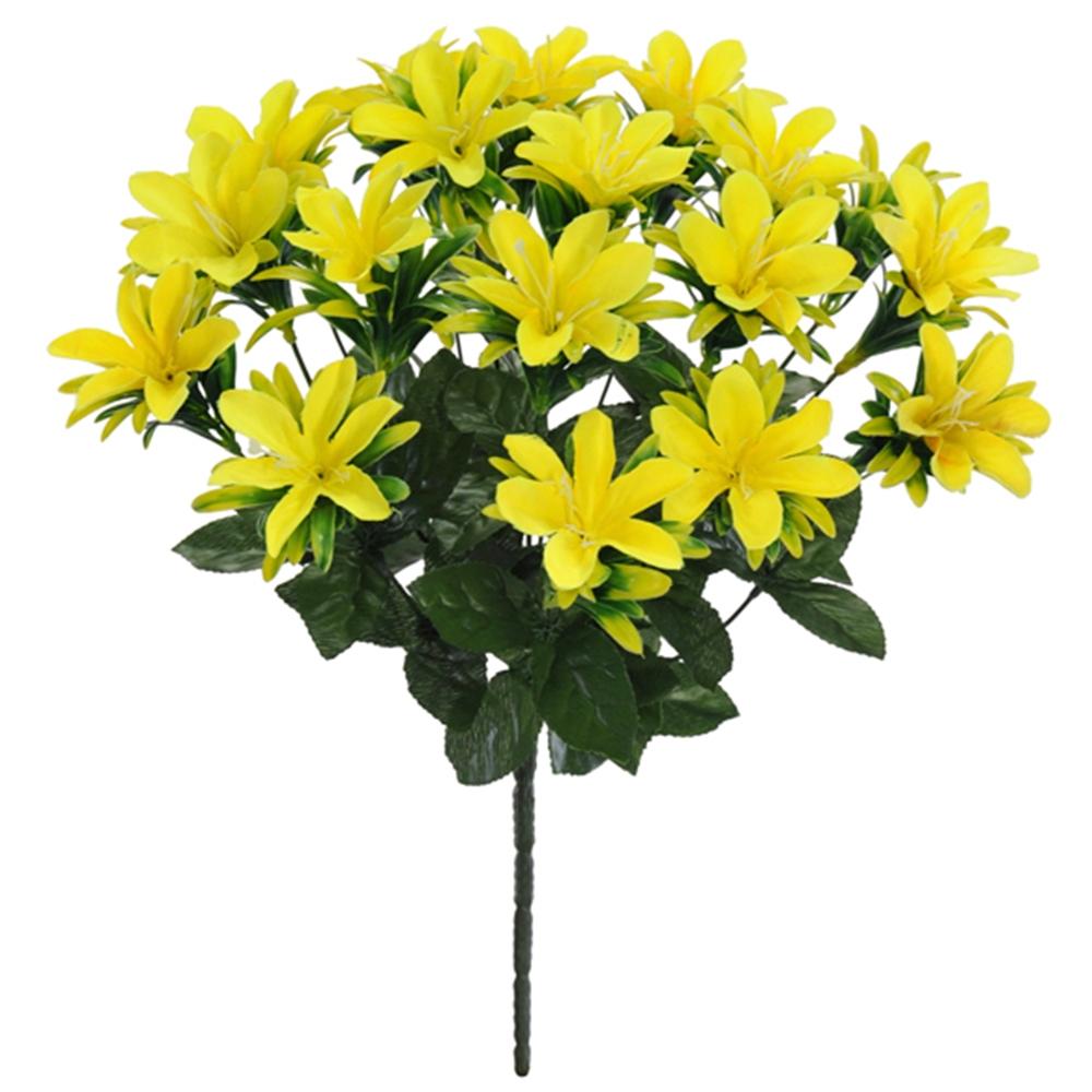 Buquê de Lírio Amarelo Permanente 38cm