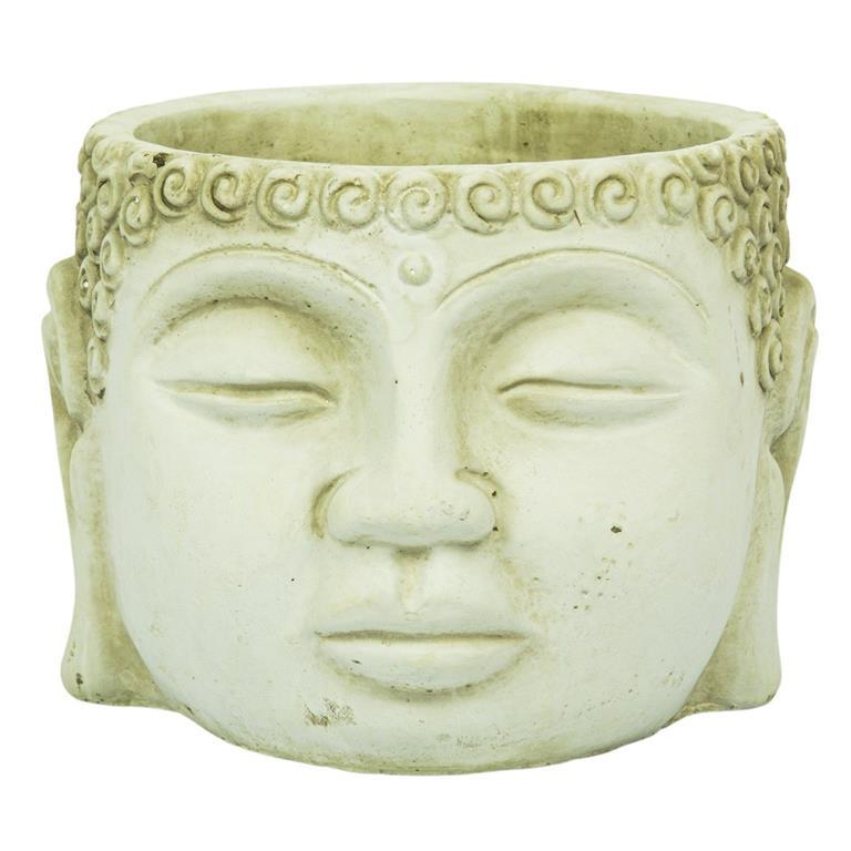 Cachepot Buddha Cimento Artesanal Areia 9x7cm