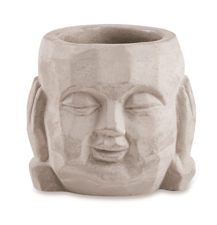 Cachepot Buda Surdo em Cimento