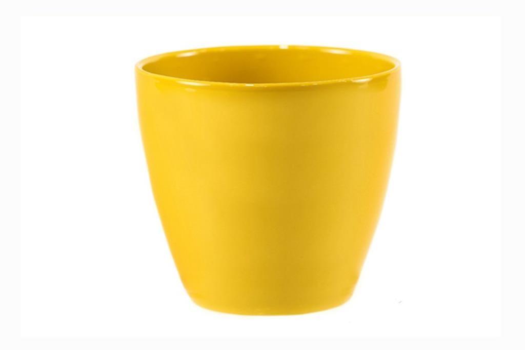 Cachepot de Cerâmica Amarelo Holandês Genoa 14x13cm
