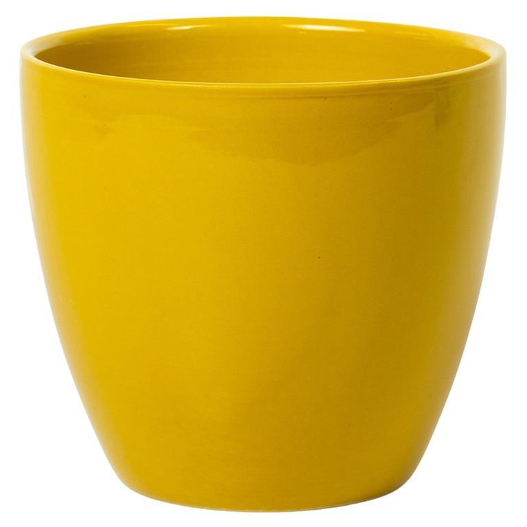 Cachepot de Cerâmica Amarelo Holandês Genoa 16x15cm