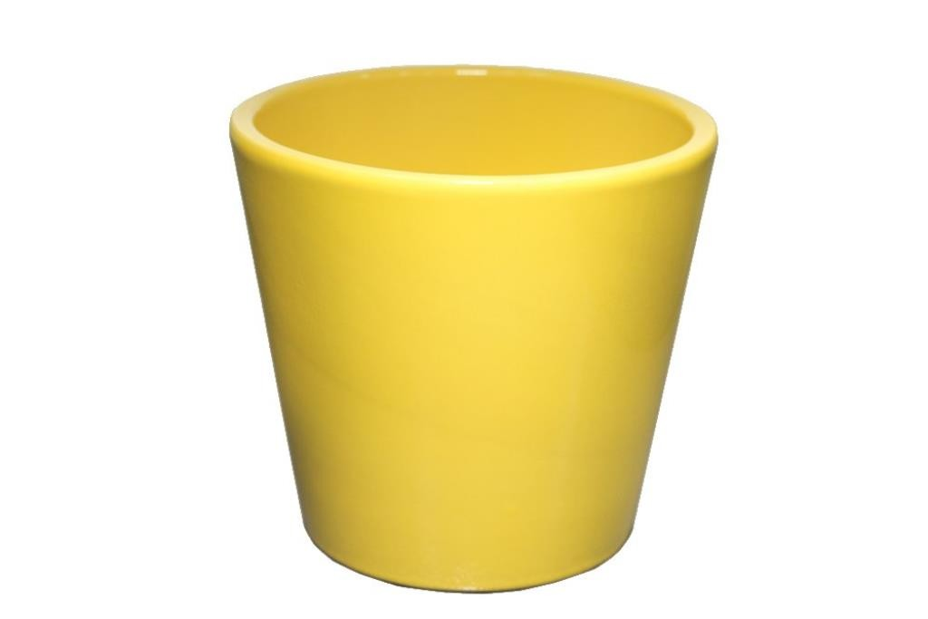 Cachepot de cerâmica Amarelo Senegal 17x16cm