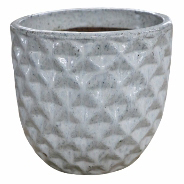 Vaso de Cerâmica Artesanal Branco Felix 31x29cm