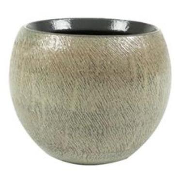 Cachepot de Cerâmica Artesanal Cinza Ayla 17x13cm