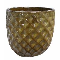 Vaso de Cerâmica Artesanal Marrom Felix 21x20cm