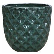 Vaso de Cerâmica Artesanal Verde Felix 31x29cm