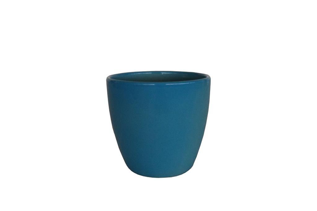 Cachepot de Cerâmica Azul Holandês Genoa 16x15cm