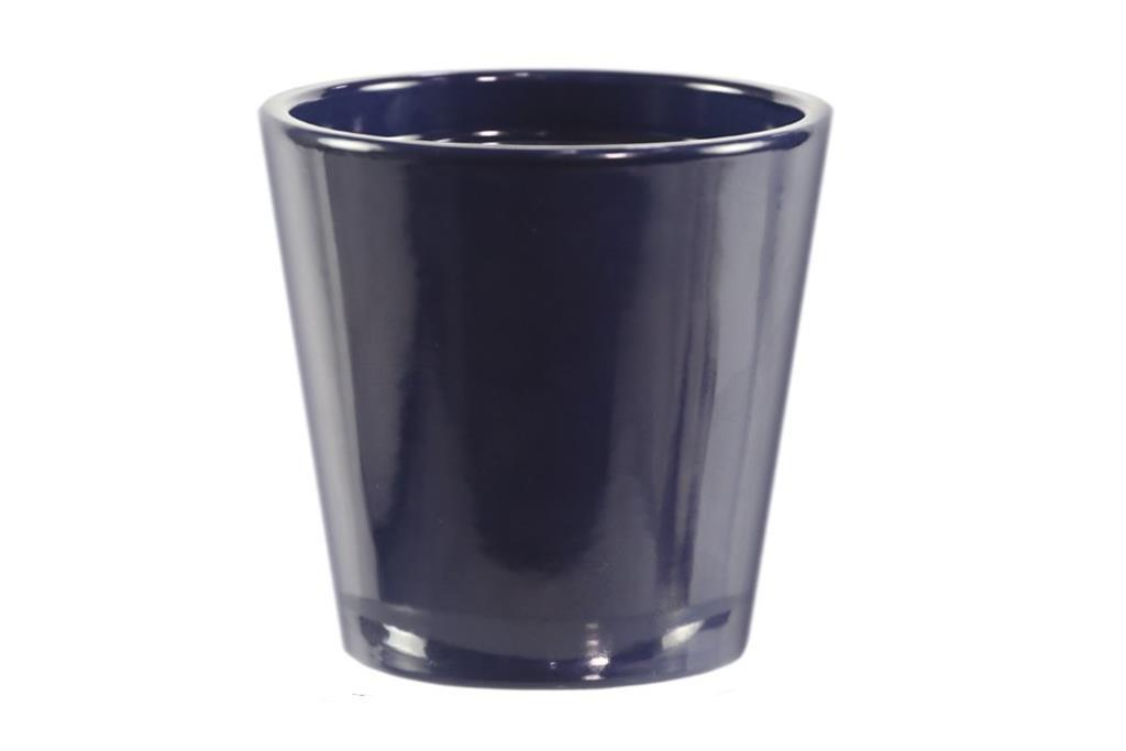 Cachepot de cerâmica Azul Marinho Senegal 14x14cm