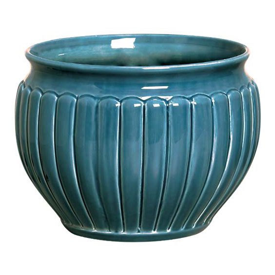 Cachepot de Cerâmica Azul Persia Santorini 22x18cm