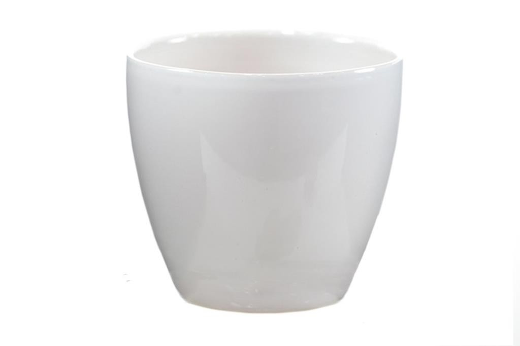Cachepot de Cerâmica Branco Holandês Genoa 14x13cm