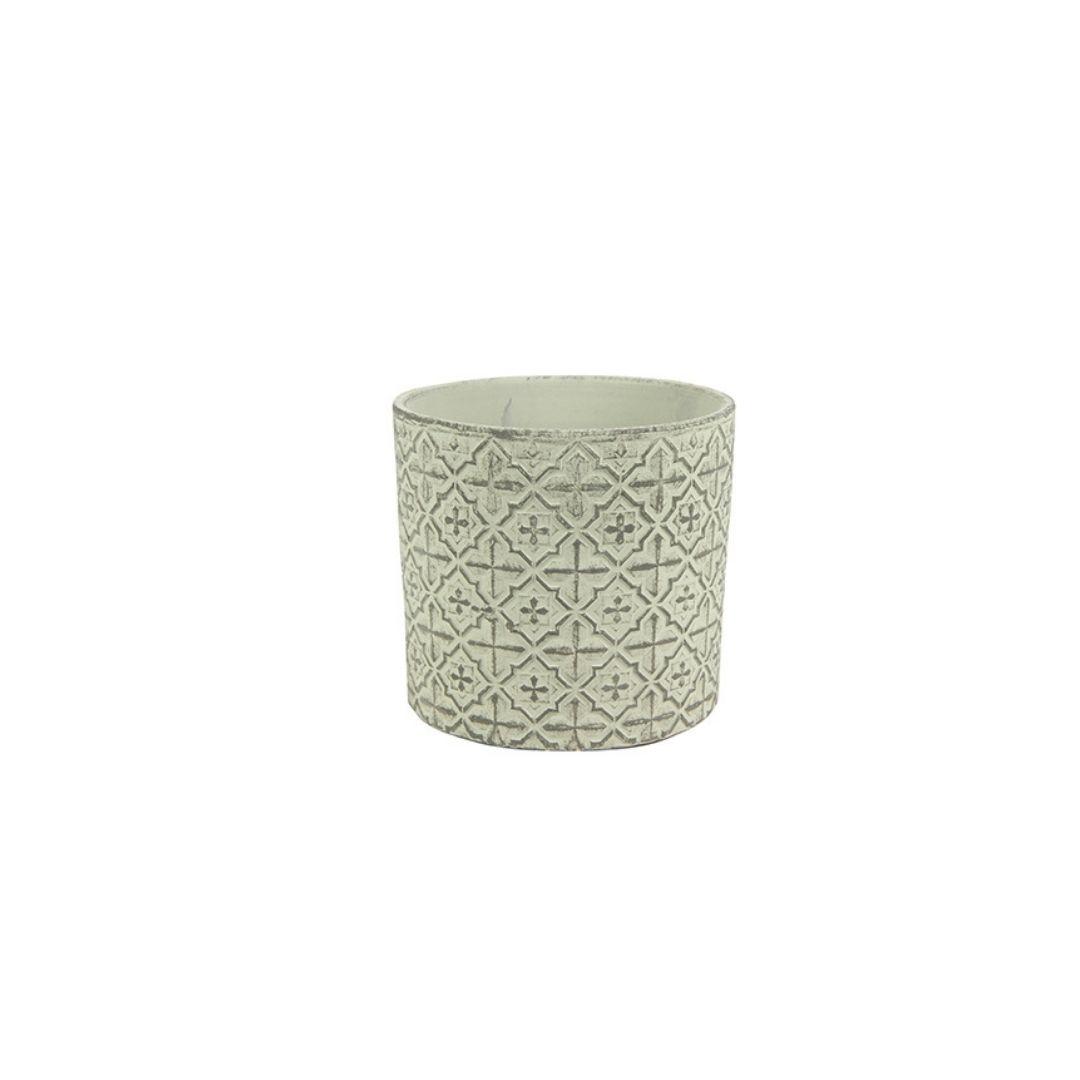 Cachepot de Cerâmica Branco Thyme 13x12cm