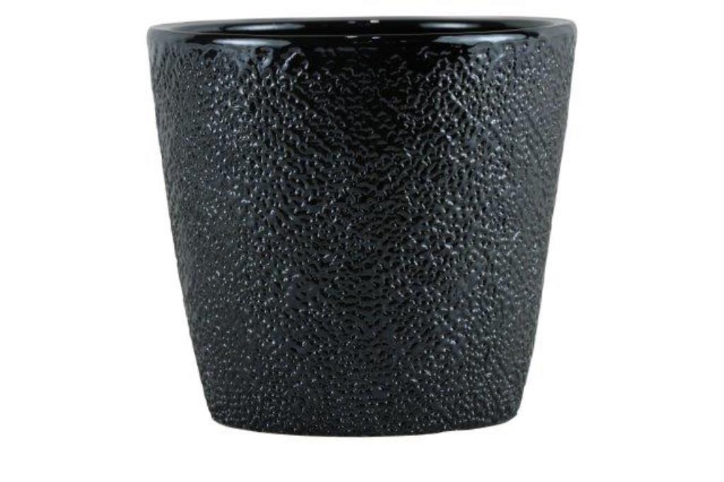 Cachepot de cerâmica Chumbo Senegal 17x16cm