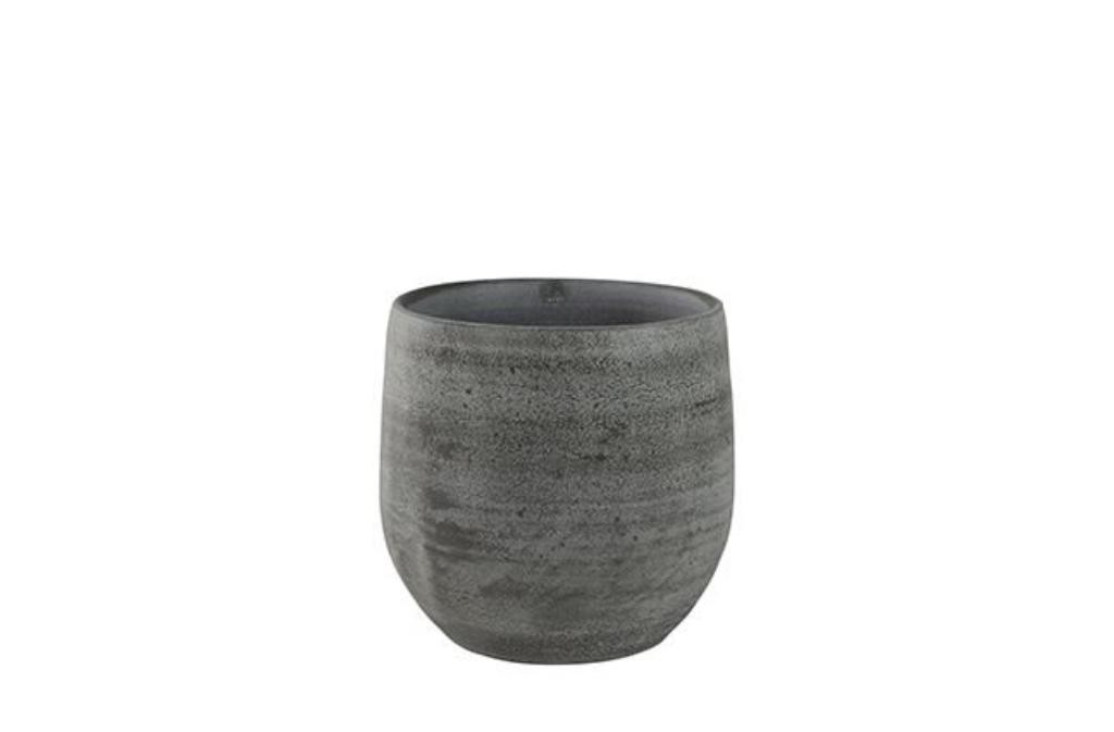 Cachepot de Cerâmica Cinza Português Esra 15x13cm