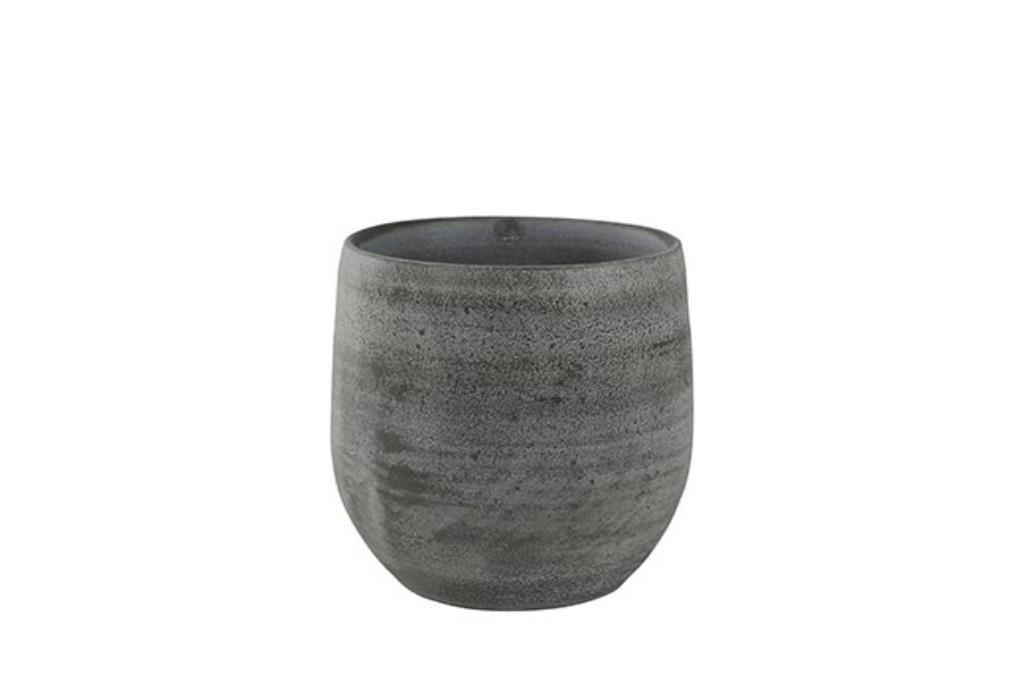 Cachepot de Cerâmica Cinza Português Esra 18x16cm