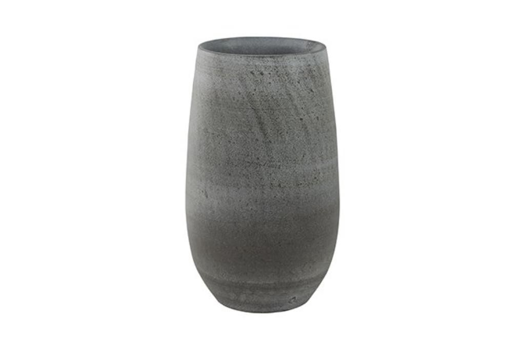 Cachepot de Cerâmica Cinza Português Esra 18x30cm