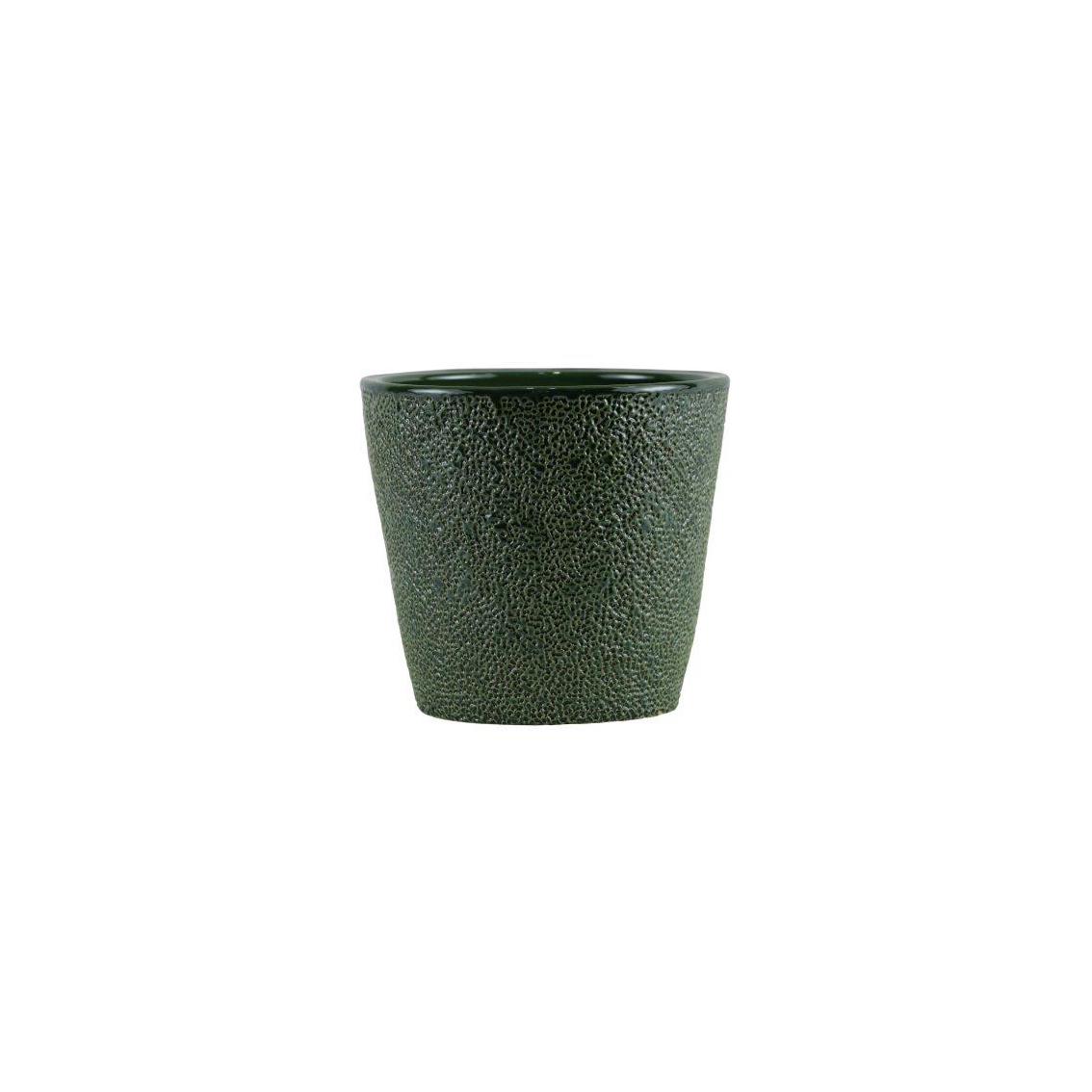 Cachepot de Cerâmica Verde Senegal 14x14cm