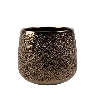 Cachepot de Cerâmica Dourado Bretagne 19x15cm