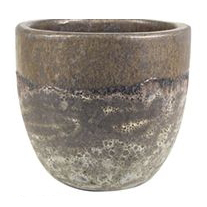Cachepot de Cerâmica Marrom Artesanal Pride 30x23cm