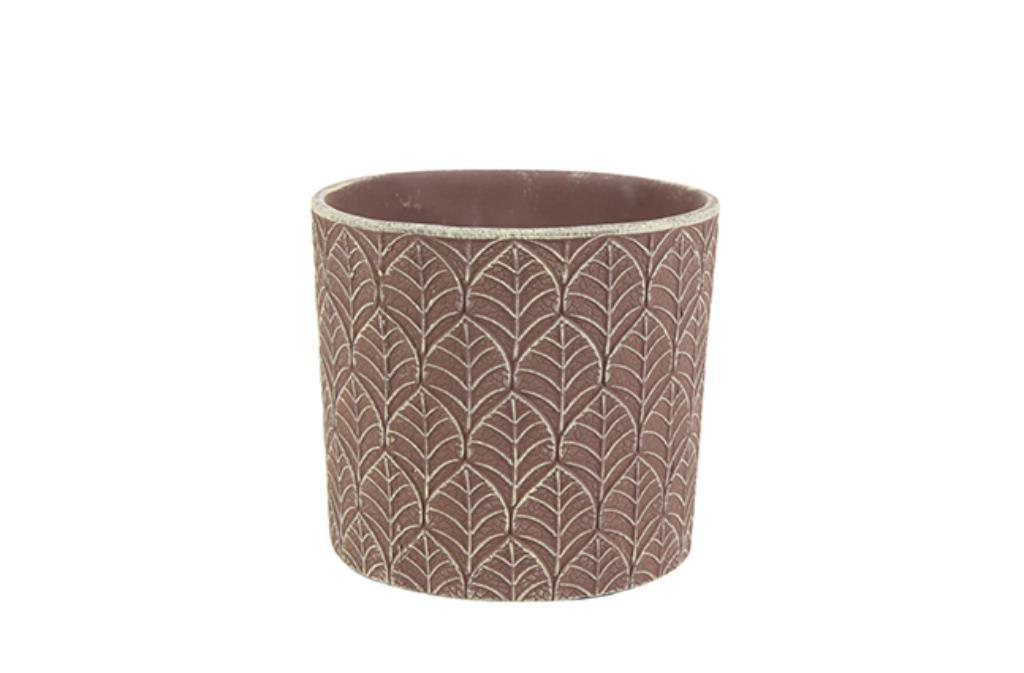 Cachepot de Cerâmica Marrom Fedde 10x11cm