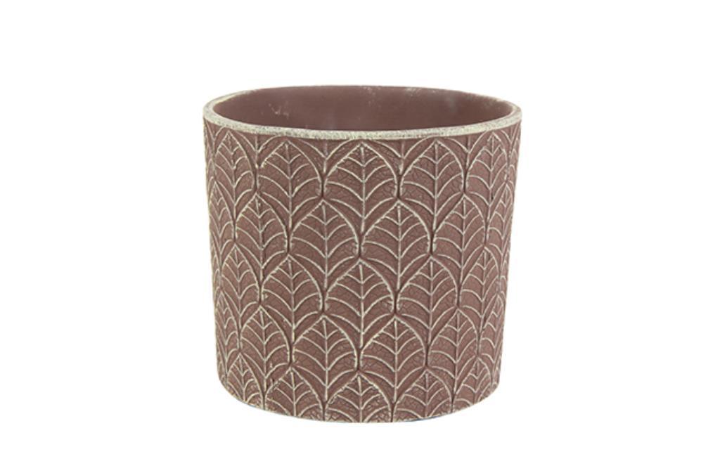 Cachepot de Cerâmica Marrom Fedde 13x12cm