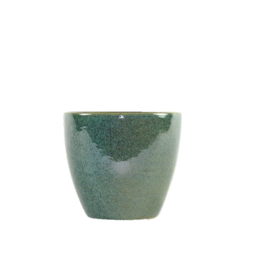 Cachepot de Cerâmica Musgo Holandês Genoa 16x15cm