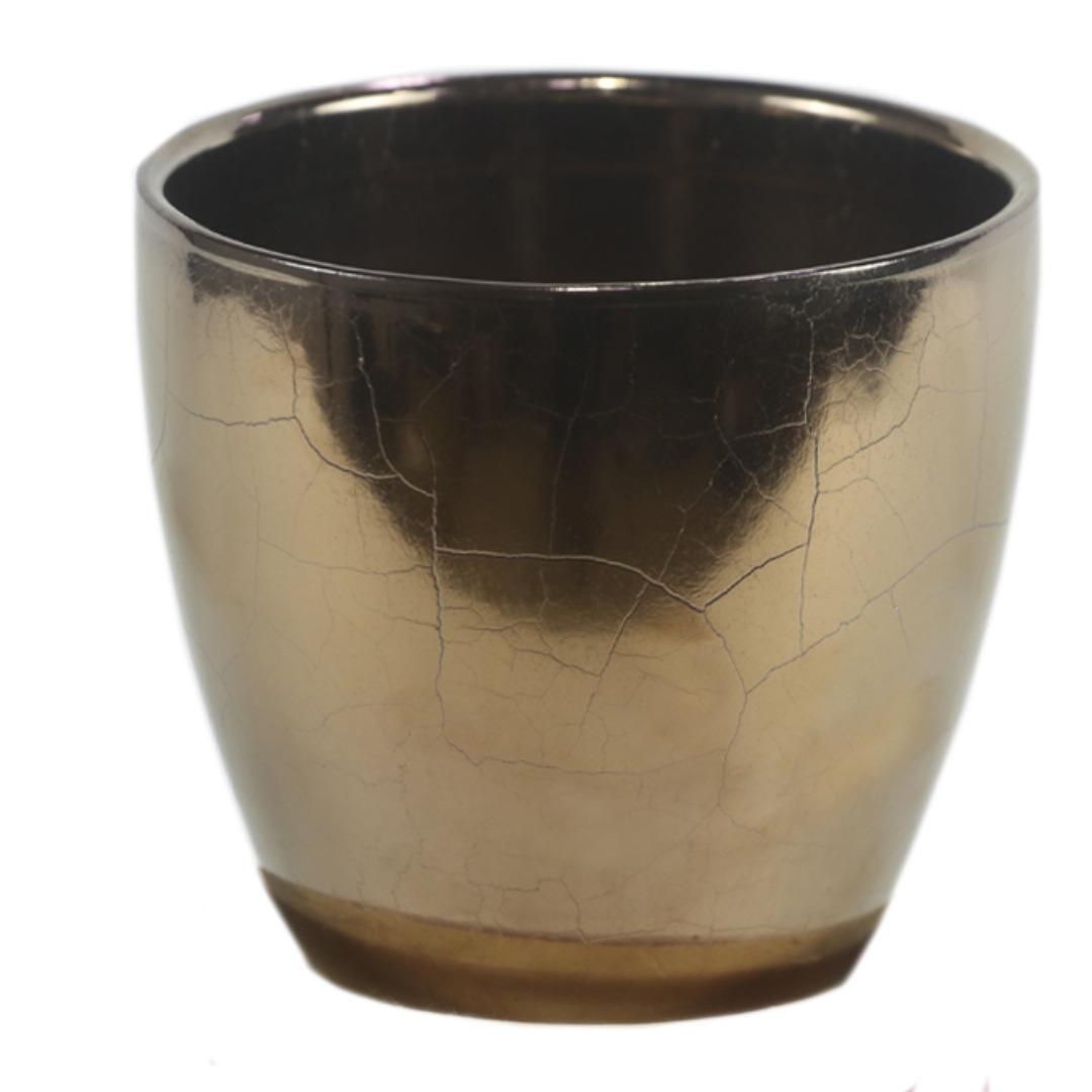 Cachepot de Cerâmica Ouro Holandês Genoa 14x13cm