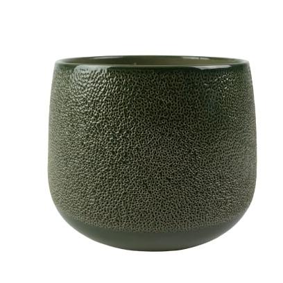 Cachepot de Cerâmica Verde Musgo Bretagne 19x15cm