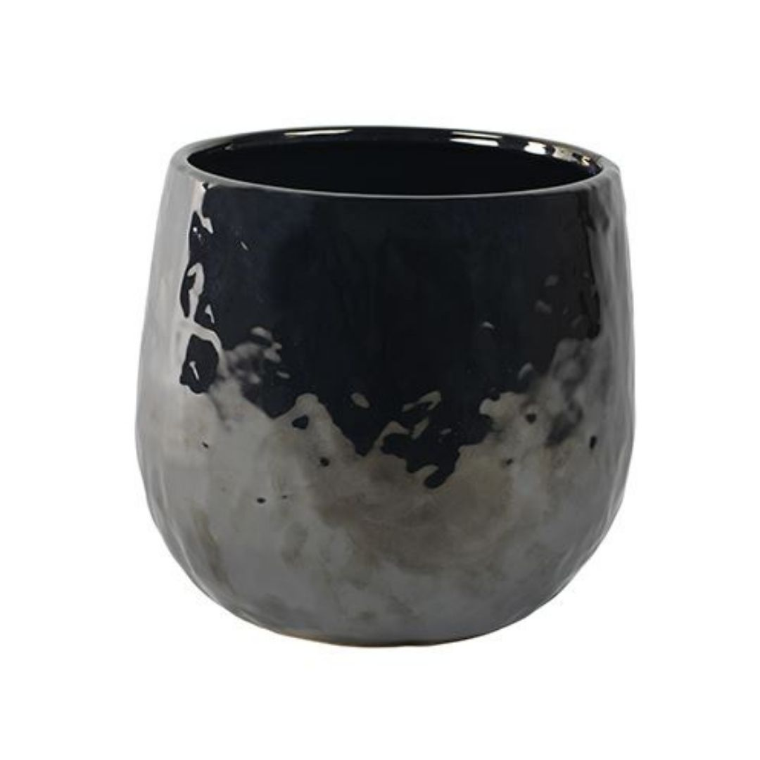 Cachepot de Cerâmica Preto Lieke 22x20cm