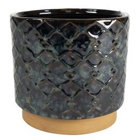 Cachepot de Cerâmica Preto Mees 16x14cm
