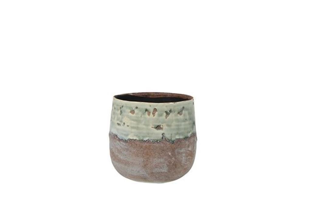 Cachepot de Cerâmica Verde Menta Adora 14x12cm
