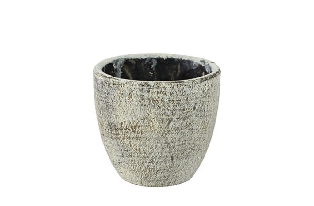 Cachepot de Cimento Artesanal Anne 14x13cm