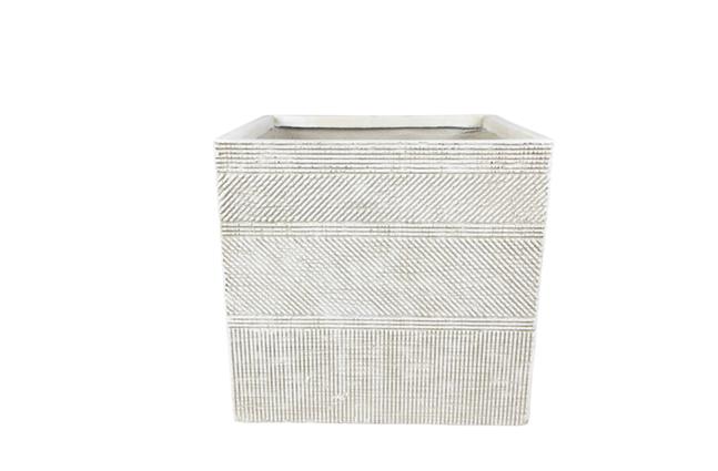 Cachepot de Cimento Artesanal Areia Andes 28x26cm
