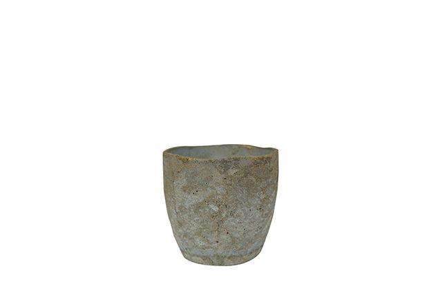 Cachepot de Cimento Artesanal Cinza Jens 14x13cm