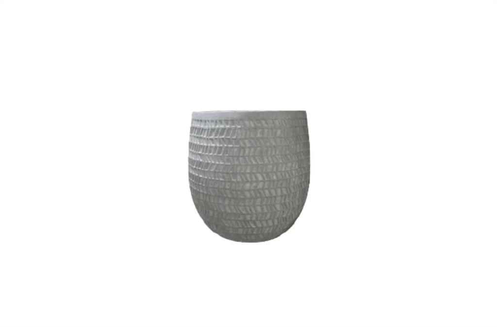 Cachepot de Cimento Artesanal Cinza Kinza 20x20cm