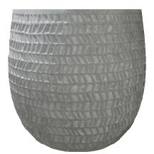 Cachepot de Cimento Artesanal Cinza Kinza 27x26cm