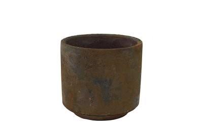Cachepot de Cimento Artesanal Marrom Saar 12x11cm