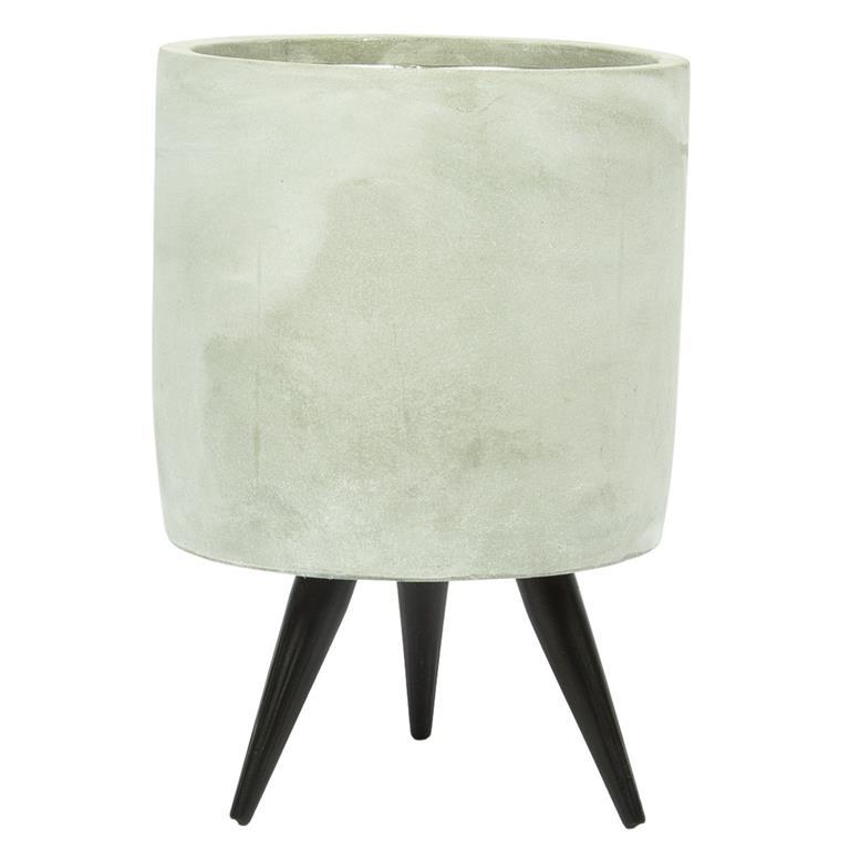 Cachepot de Cimento Artesanal Imre 14x20cm