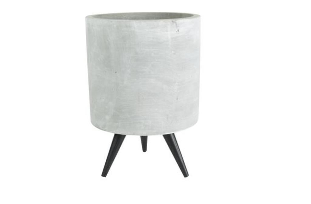 Cachepot de Cimento Artesanal Imre 17x24cm