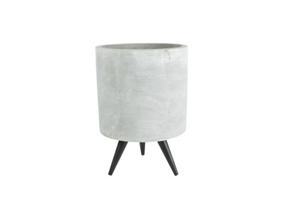 Cachepot de Cimento Artesanal Imre 8x12cm