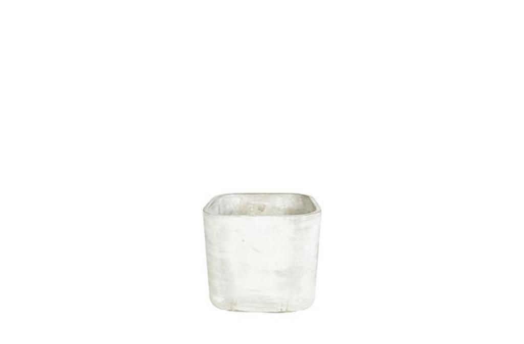 Cachepot de Cimento Cinza Artesanal Saray 14x13cm