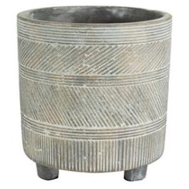 Cachepot de Cimento Cinza Nola 17x16cm