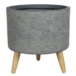 Cachepot de Cimento Grafite Artesanal Riva 35x35cm