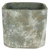 Cachepot de Cimento Marrom Artesanal Saray 14x13cm