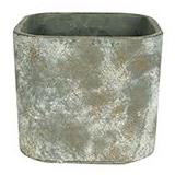 Cachepot de Cimento Marrom Artesanal Saray 17x16cm