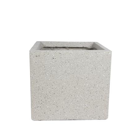 Cachepot de Fibrocimento Areia Artesanal Ivo 22x20cm