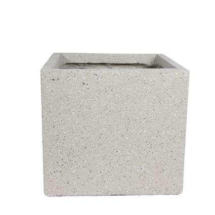 Cachepot de Fibrocimento Areia Artesanal Ivo 28x26cm