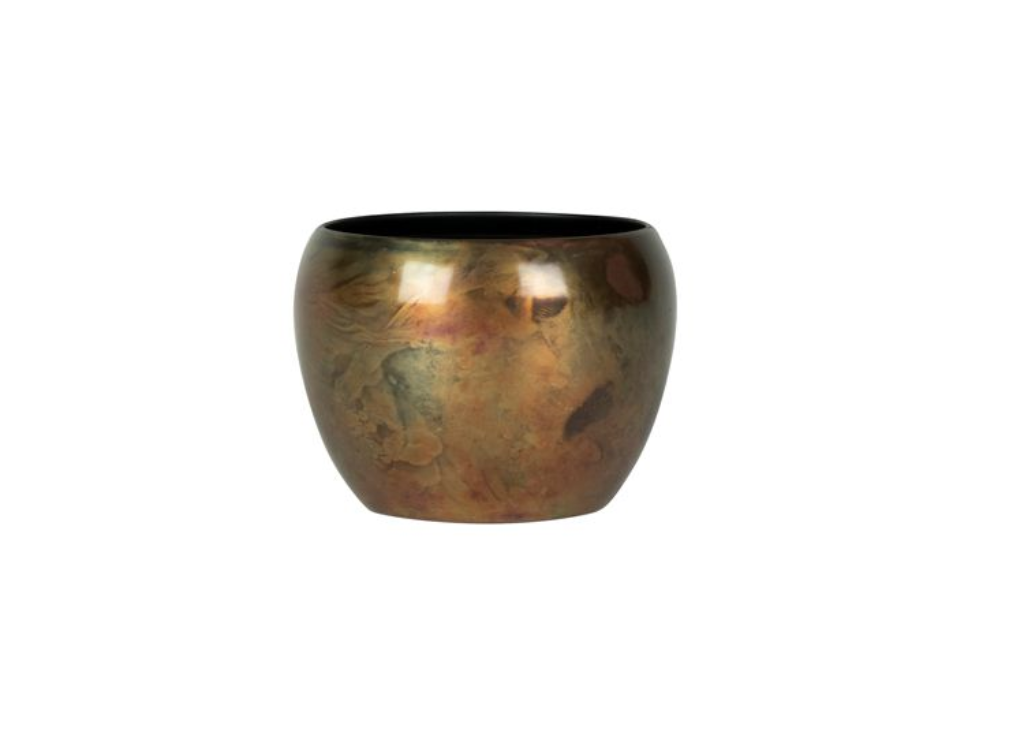 Cachepot de Metal Artesanal Cobre Sky Burn Indiano Kody 7x5cm
