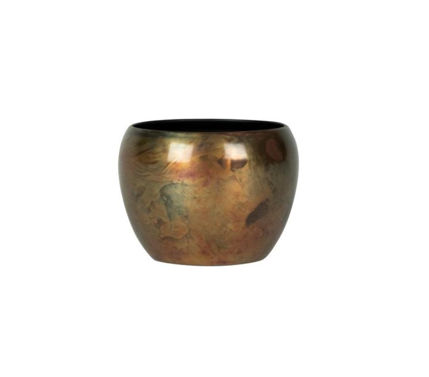 Cachepot de Metal Artesanal Cobre Sky Burn Indiano Kody 9x7cm